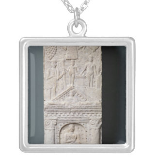 Votive stela dedicated to Saturn Silver Plated Necklace
