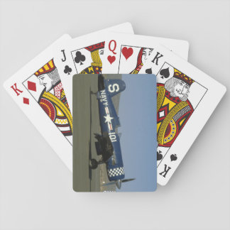 Vought F4U Corsair, Wings Flat,Right_WWII Planes Playing Cards
