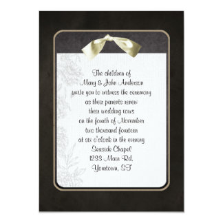 Vow Renewal Black Frame 11 Cm X 16 Cm Invitation Card