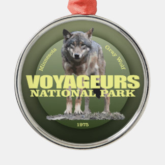 Voyageurs NP (Wolf) WT Silver-Colored Round Decoration