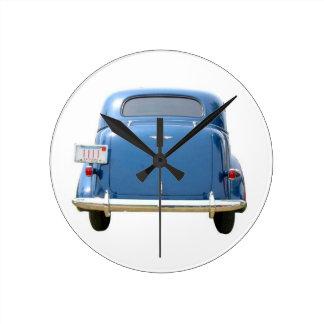 Vrooom! 1940 Blue Chevy Clock