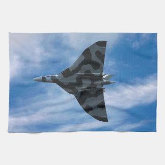 Vulcan bomber in flight tea towel