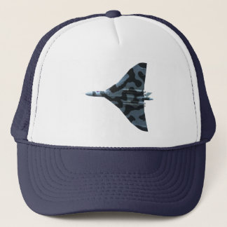 Vulcan bomber in flight trucker hat