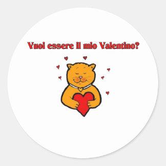 Vuoi essere il mio Valentino? Round Sticker