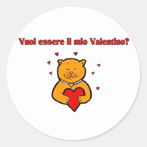 Vuoi essere il mio Valentino? Round Stickers