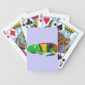 VW- Funky Primitive Art Iguana Bicycle Playing Cards