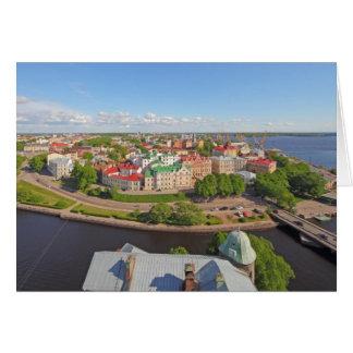 Vyborg Russia Leningrad Oblast from Olaf Tower Card