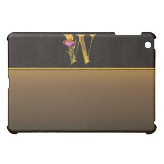 W Gold Iris Monogram  iPad Mini Case