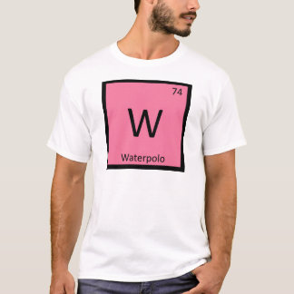 W - Waterpolo Sports Chemistry Periodic Table T-Shirt
