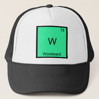 W - Woodward Funny Chemistry Element Symbol Tee Trucker Hat