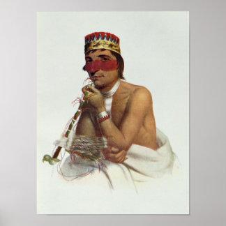 Wa-Em-Boesh-Kaa, a Chippeway Chief Print