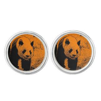 wacky art -panda orange (C) Cuff Links