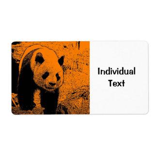 wacky art -panda orange (C) Shipping Label