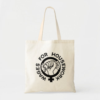 Wages for Housework Tote Budget Tote Bag