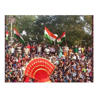 WAGHA Border: Happy Indians n Pakistanis Postcards