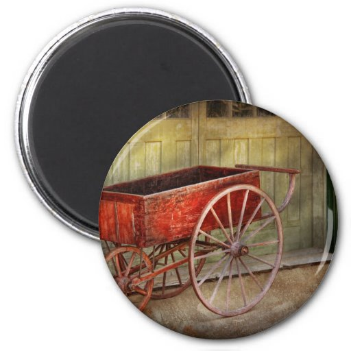Wagon - That old red wagon Fridge Magnets