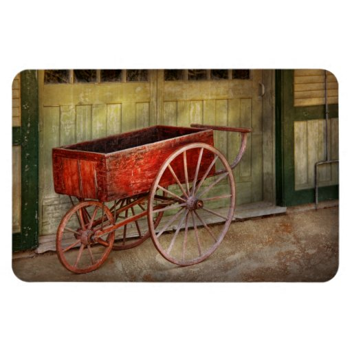 Wagon - That old red wagon Vinyl Magnet