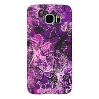 Wahine Lace Hawaiian Orchid Samsung Galaxy S6 Cases