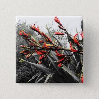"""""""Waiheke Island"""" - Flax Flowers 15 Cm Square Badge"""