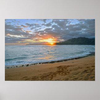 Wainiha Bay, Kauai, Hawaii, Sunrise Poster