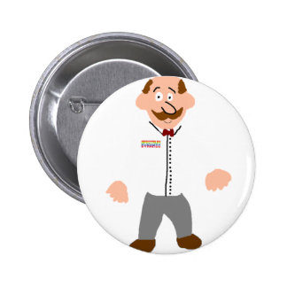 Waiter At Your Service Pinback Buttons