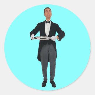 Waiter Classic Round Sticker