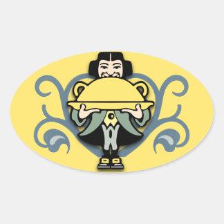 Waiter Oval Sticker