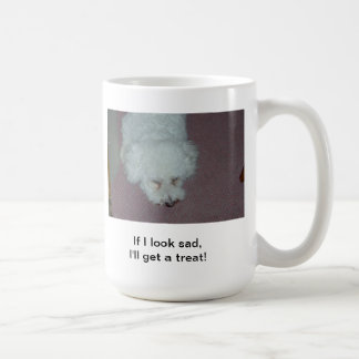 Waiting for a treat classic white coffee mug