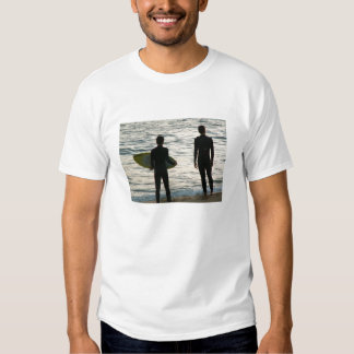 Waiting for a wave t-shirts
