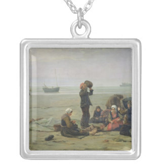 Waiting for the Fish, Berck-sur-Mer Silver Plated Necklace