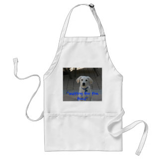 """""""waiting for the  food"""" standard apron"""