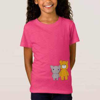 Waiting for the Illuminati: Cat and Bear T-Shirt