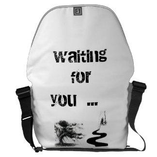 waiting for you messenger bag
