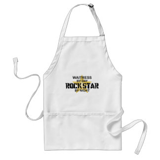 Waitress Rock Star by Night Standard Apron