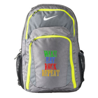 WAKE EAT ROCK REPEAT #3 BACKPACK