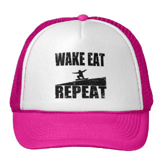 Wake Eat Snowboard Repeat #2 (blk) Cap