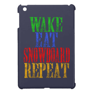 WAKE EAT SNOWBOARD REPEAT CASE FOR THE iPad MINI
