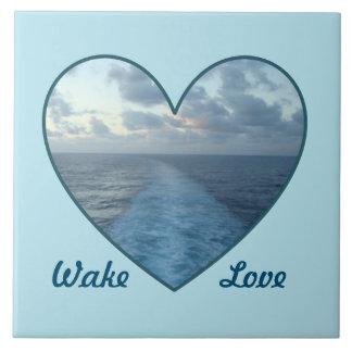 Wake Love Large Square Tile