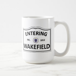 WAKEFIELD MASSACHUSETTS Hometown Mass MA Townie Basic White Mug
