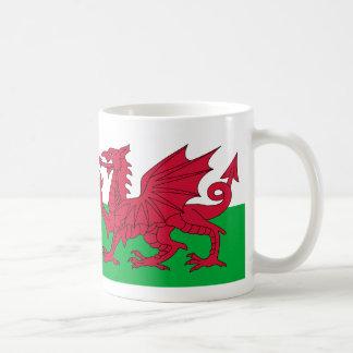 Wales flag basic white mug