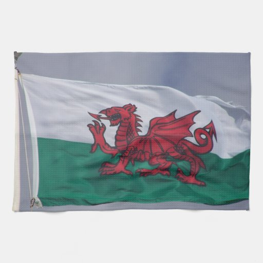 Wales flag kitchen towels
