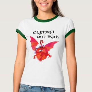 """Wales Forever"" Ladies Red Dragon T-shirt"