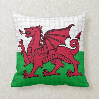 Wales Welsh flag cymru dragon Throw Cushions