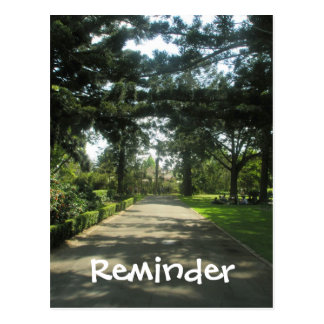 Walk in the  Park Reminder Card
