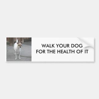 WALK YOUR DOG BUMPER STICKER