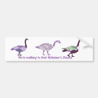 Walking Geese Bumper Sticker