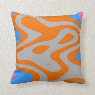 Walking man, abstract digital art throw pillow