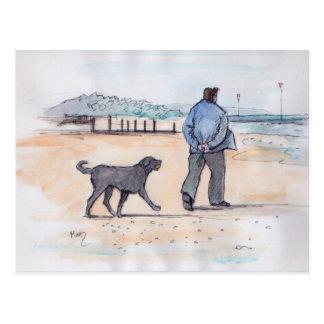 walking the dog - 07 postcard
