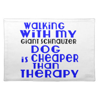 Walking With My Giant Schnauzer Dog  Designs Placemat