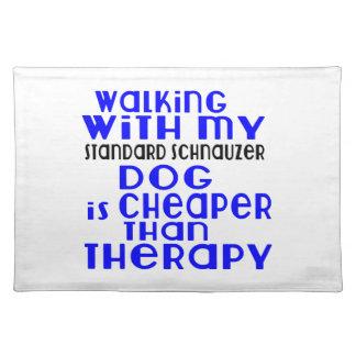 Walking With My Standard Schnauzer Dog Designs Placemat